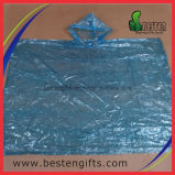 PE barato desechable poncho de lluvia bola promocional poncho de lluvia Llavero de la bola de plástico