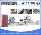 CNC máquina de corte doble de ángulo de ventana de aluminio