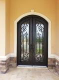 古典的な経済的なハンドメイドの錬鉄のドアの複式記入のドア
