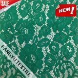 Ткань шнурка цветка зеленого цвета способа хорошего качества