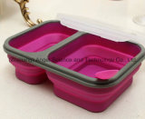 Recipiente de comida plegable de silicona India Tiffin Lunch Box Sfb08