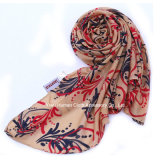 Sciarpa stampata sciarpa lunga media delle donne molli di usura