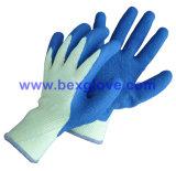 Перчатка работы перчатки латекса полиэфира 10 датчиков