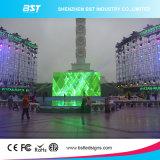 La pantalla video de alquiler 1r1g1b de SMD3535 LED de aluminio a presión la luz HD P10 de la fundición ultra