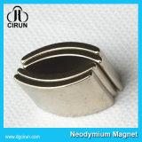 Kundenspezifischer Lichtbogen-Form-Neodym-Bewegungsmagnet des Überzug-Ni-Cu-Ni