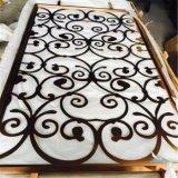 Panneaux décoratifs coupés par laser en métal d'acier inoxydable d'écrans