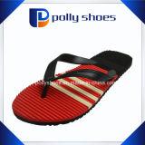 Красный цвет черноты ливня пляжа Flop Flip тапочки людей твердый