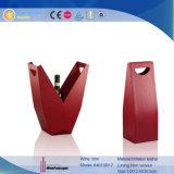 Rectángulo de regalo de cuero diseñado único del vino rojo de la PU (4615R11)