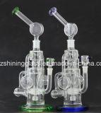 Eindeutiger Entwurfs-Glaswasser-Rohr-Glaspfeife-schwere Unterseite durch glänzendes Glas