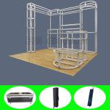 Cabine de anúncio de alumínio &Portable reusável do carrinho da exposição do projeto de DIY