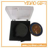 Rectángulo de joyería verde de encargo del terciopelo para el conjunto (YB-VB-003)