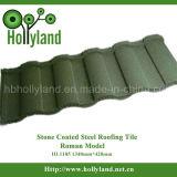 Le mattonelle di tetto d'acciaio con la pietra hanno ricoperto (mattonelle romane)