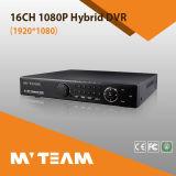 16CH 1080P Ahd NVR híbrido H264 Red de Vigilancia de la ayuda de DVR 4PCS HDD (62B16H80P)