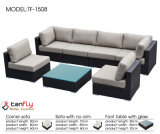 L形のモジュラー屋外の柳細工のソファーの家具
