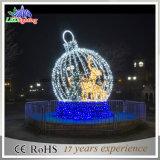 Indicatore luminoso chiaro esterno di motivo di festa LED dell'indicatore luminoso della decorazione della sfera di natale del LED