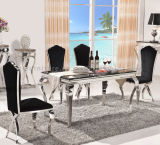 8 Seater Edelstahl Marble Dining Table mit Chairs