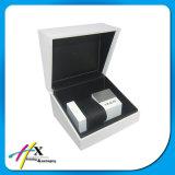 Elegante blanco solo reloj caja de embalaje