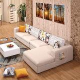 現代様式の簡単な木のソファーの舞台装置