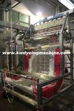 폴리에스테 고무줄은 지속적인 염색 및 끝마무리 기계를 끈으로 엮는다