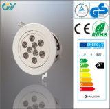 Plastique 6000k 9W DEL Ceiling Light (CE RoHS)