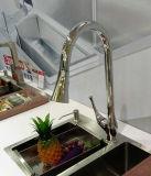 Faucet vertical do dissipador de cozinha com único punho