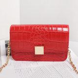Senhoras de saco retros impermeáveis vermelhas Hangbag do ombro da grão do crocodilo (A067-2)