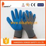 Nylon gris avec le gant bleu Dnl116 de latex