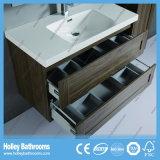 Muebles del hotel del estilo del nuevo del roble del interruptor del tacto del LED nuevos del baño de la cabina diseño de madera moderno de la unidad (BF117M)