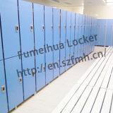 Elektronische Schließfächer für die Umkleideräume gebildet vom HPL Panel