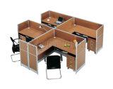 Рабочая станция стола классицистического офиса перегородки высокого качества 4-People деревянная (SZ-WS311)