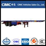 Cimc 2 Wellen-Flachbettschlußteil für Verkauf