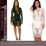 2016 [هيغقوليتي] بيضاء [سليفلسّ] ضمادة قصيرة ثوب مصغّرة (22609)