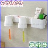 Doppio supporto di plastica del Toothbrush della tazza con dentifricio in pasta per vita quotidiana