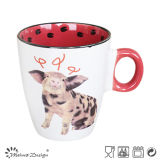 Taza de café animal viva del diseño