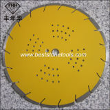 Le découpage circulaire d'asphalte de diamant concret sec humide de laser scie la lame
