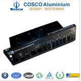 Het zwarte Geanodiseerde Voorpaneel van het Aluminium voor Audio