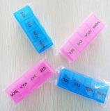 La píldora del recorrido de 7 días caja de plástico caja de la medicina de escritorio
