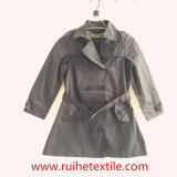 Beiläufiges Woven Trench Coat/Overcoat /Jacket für Women