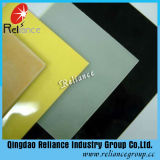 vidrio del rojo de vino de 4-8m m/azul/del amarillo/blanco/negro de la pintura del vidrio/forro