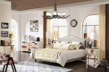 Size Soft Fabric Bed現代寝室の家具の一定の安い王