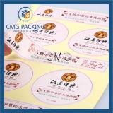 Цветастый стикер бумаги печатание подгонянный (CMG-STR-005)