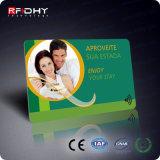 Cartão Plástico da Identificação da Sociedade da Impressão sem Contato RFID de 13.56MHz Cr80