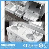 Multi dissipador delicado do banheiro do espaço com os 2 gabinetes do espelho e bacias (BV193W)