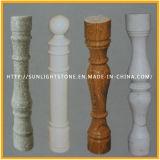 Natürlicher roter/grauer/weißer Granit-Marmor-Steinsteinbaluster für Geländer