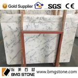 Естественные каменные кристаллический слябы Statuario белые мраморный