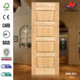 Pele da porta de madeira compensada Brich de vidro