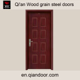 Деревянным дверь гальванизированная зерном стальная с доской Perlite