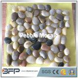 Polierkiesel-Mosaik-Fliesen für äußeren Bodenbelag mit multi Farbe