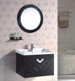 Gabinete de banheiro fixado na parede do PVC do projeto moderno com espelho