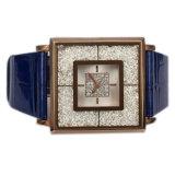 Het Echte Leer van de douane Dame Wristwatch Lw-07b